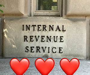 The IRS ❤️❤️❤️ You!